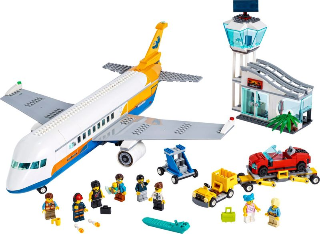 LEGO® City Passenger Airplane components