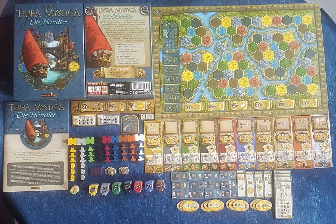 Terra Mystica: Merchants of the Seas components