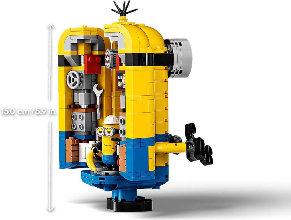 Brick-built Minions and their Lair interior
