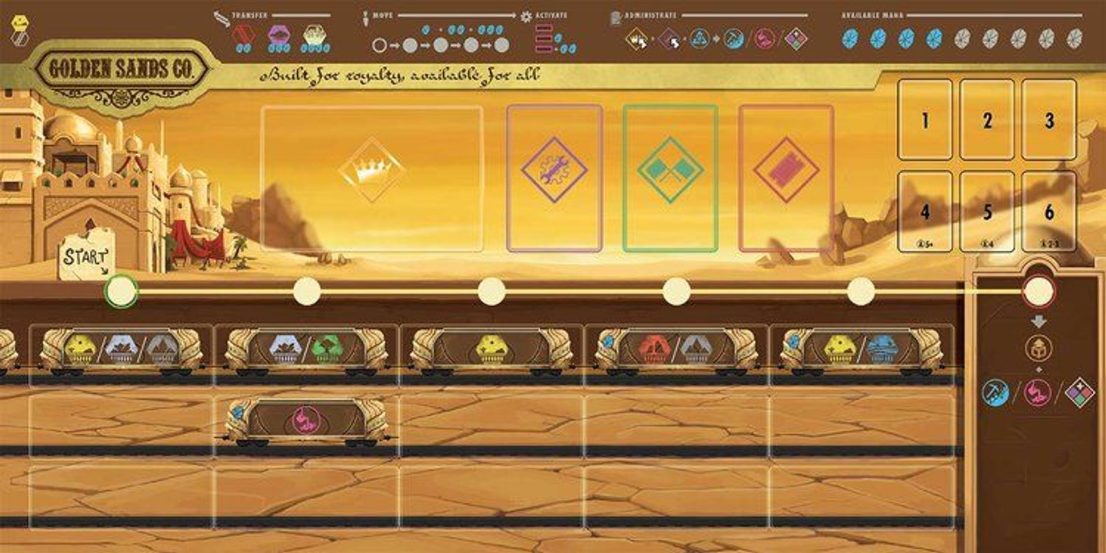 Empyreal: Spells & Steam game board