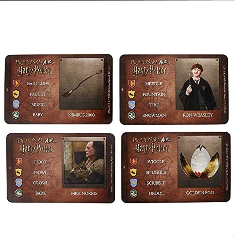 Pictionary Air Harry Potter cards