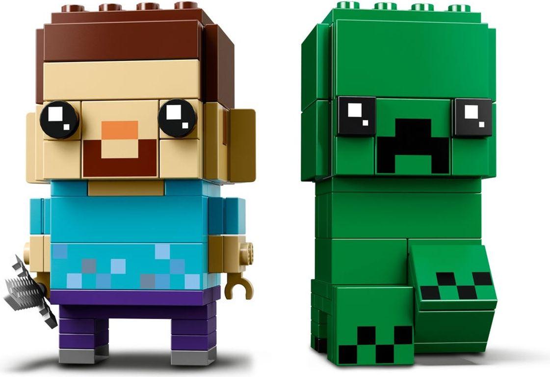 LEGO® BrickHeadz™ Steve & Creeper™ minifigures