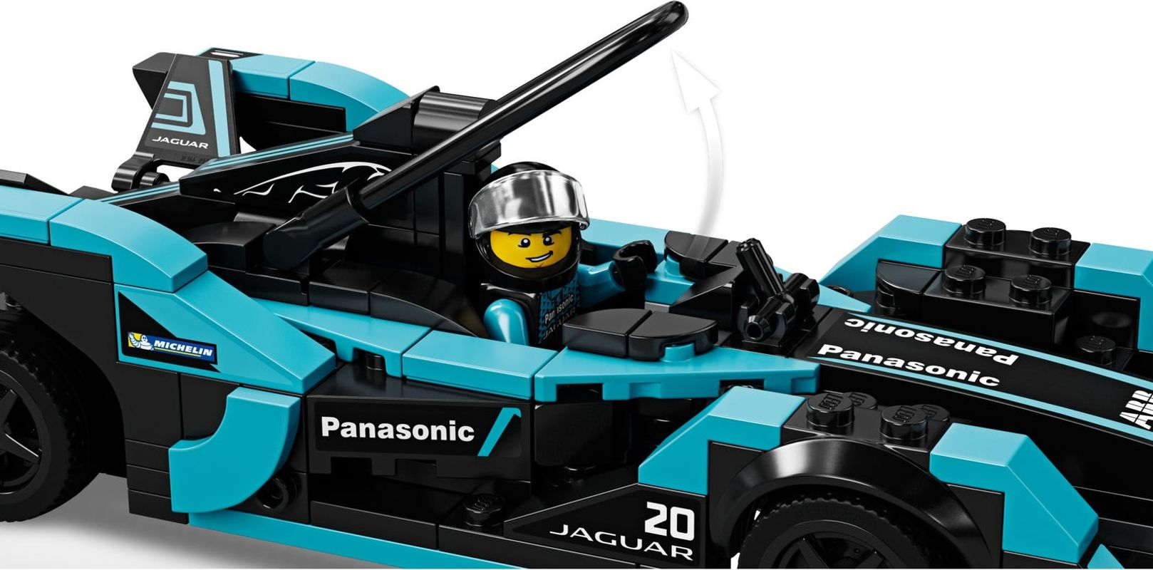 Formula E Panasonic Jaguar Racing GEN2 car & Jaguar I-PACE eTROPHY interior