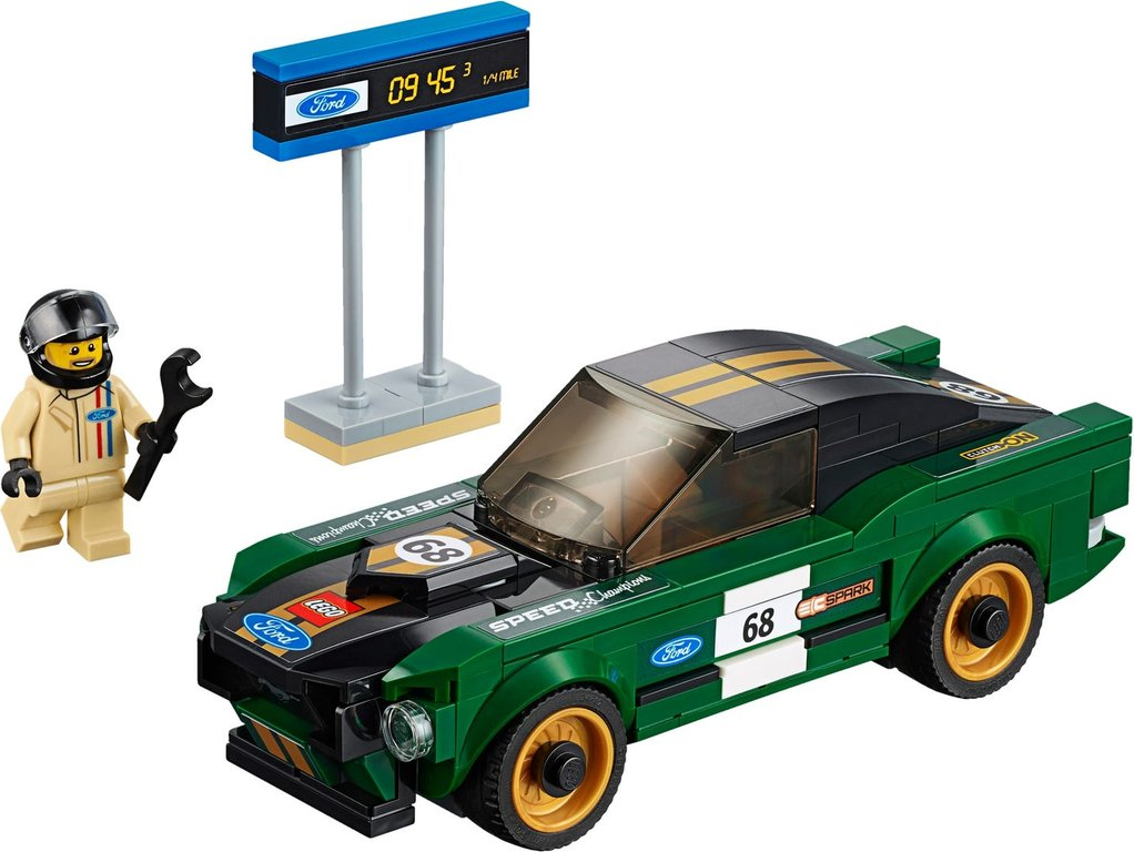LEGO® Speed Champions 1968 Ford Mustang Fastback components