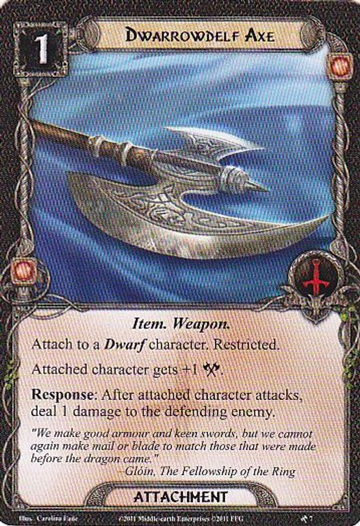 The Lord of the Rings: The Card Game - Khazad-dûm cards