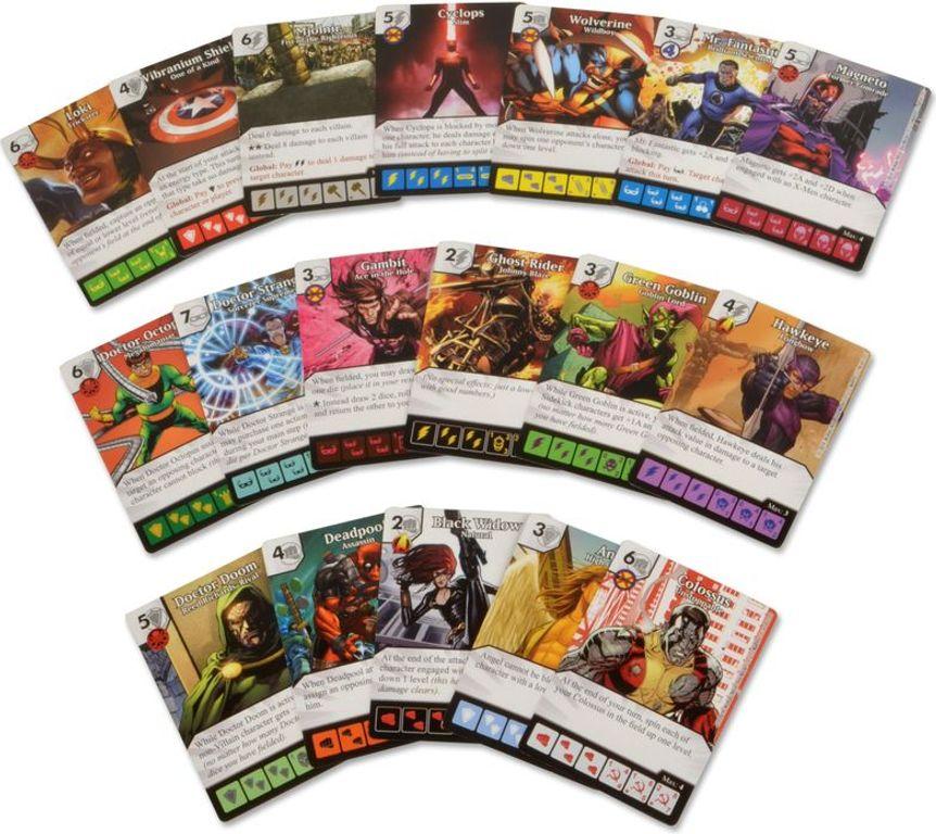 Marvel Dice Masters: Avengers vs. X-Men cards