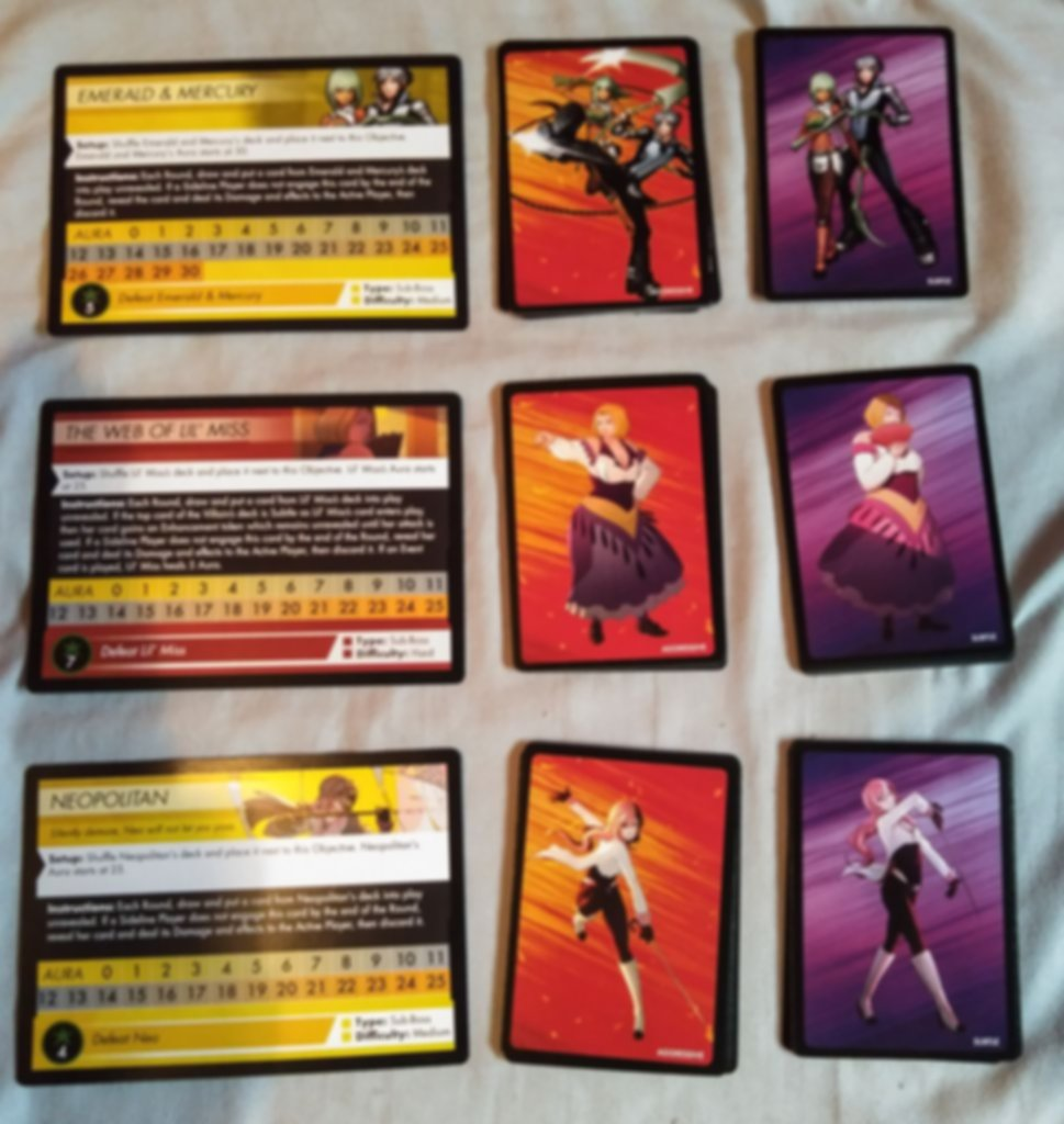 RWBY: Combat Ready - Sub-Boss Expansion cards