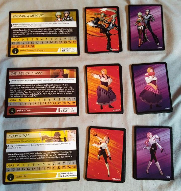 RWBY: Combat Ready - Sub-Boss Expansion cards