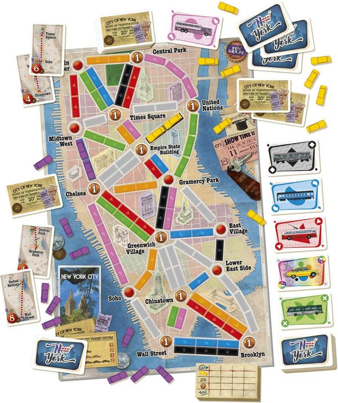 Ticket to Ride: New York components