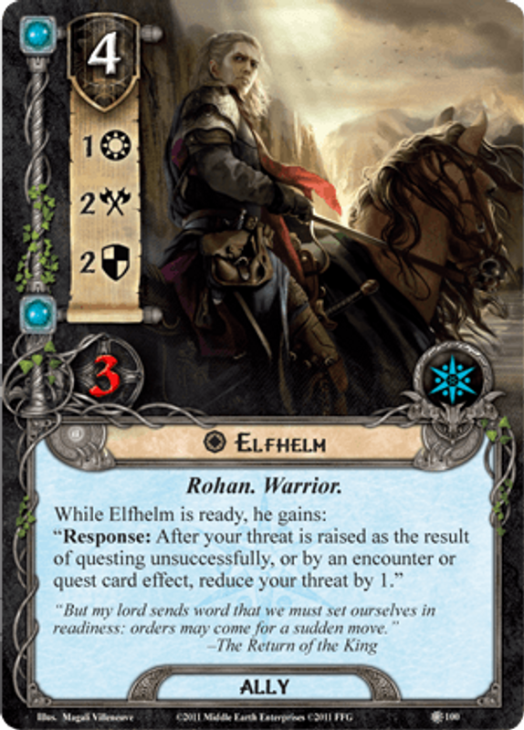 The Lord of the Rings: The Card Game - The Dead Marshes Elfhelm card