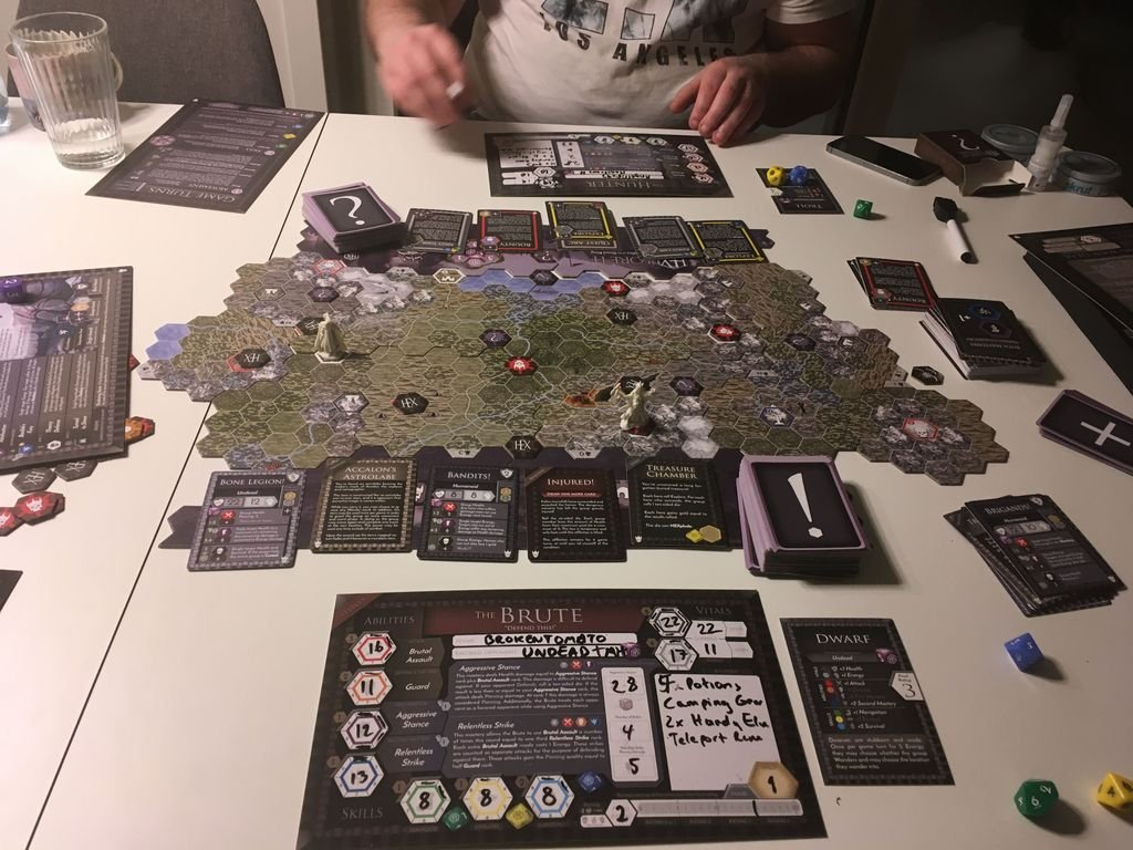 HEXplore It: The Valley of the Dead King components