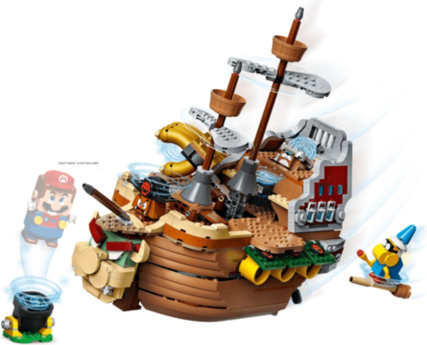 LEGO® Super Mario™ Bowser's Airship Expansion Set gameplay
