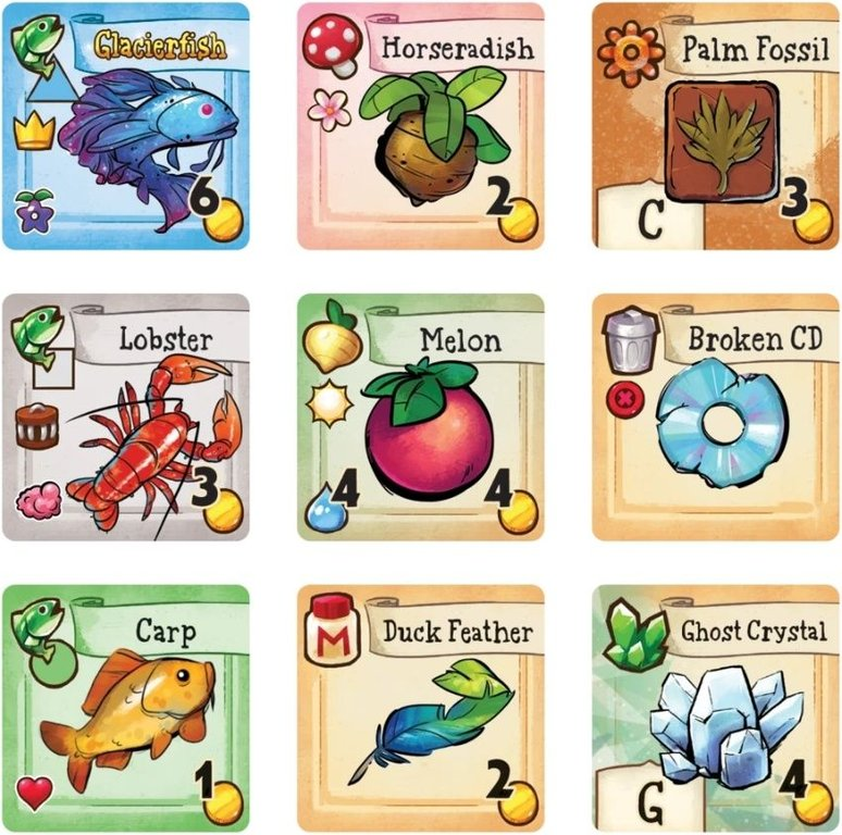 Stardew Valley: The Board Game tiles