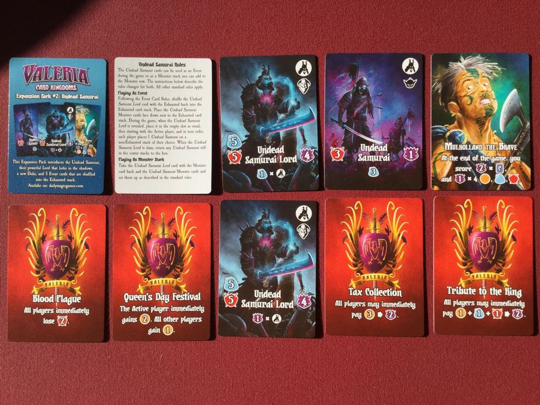 Valeria: Card Kingdoms - Expansion Pack #02: Undead Samurai cards