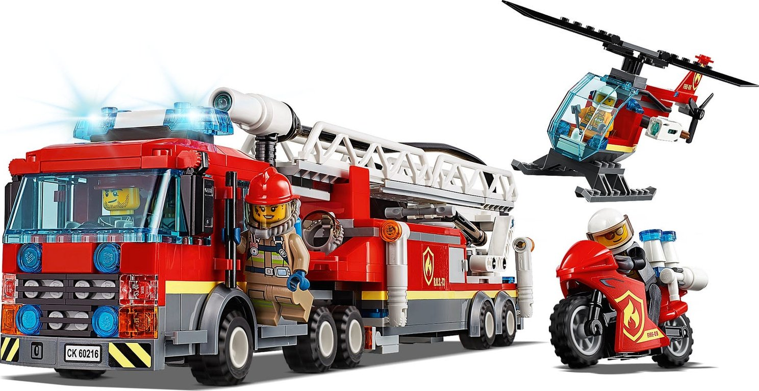 LEGO® City Downtown Fire Brigade components