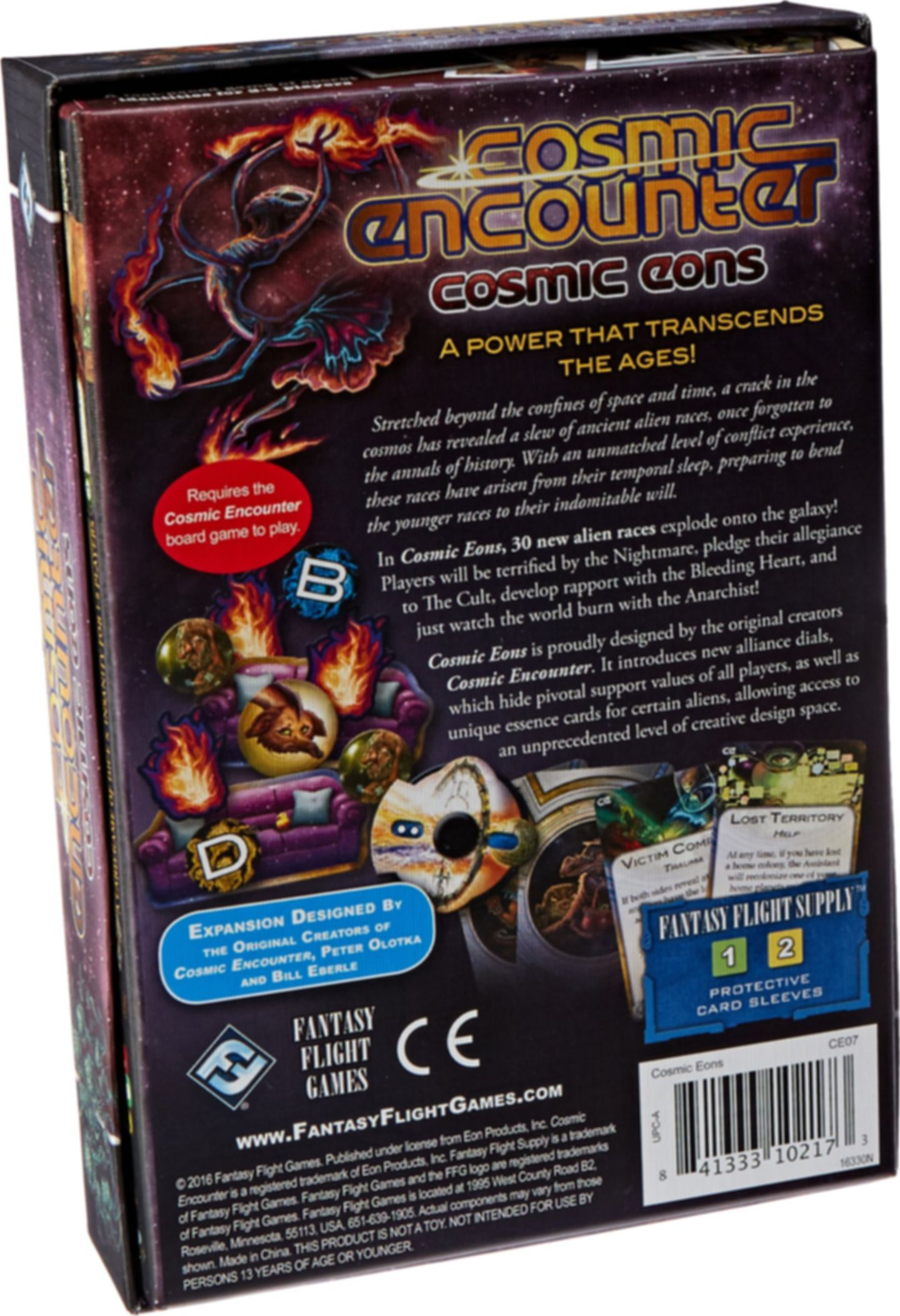 Cosmic Encounter: Cosmic Eons back of the box
