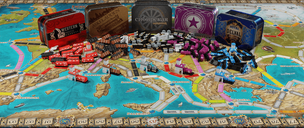 Ticket to Ride: Europe – 15th Anniversary components