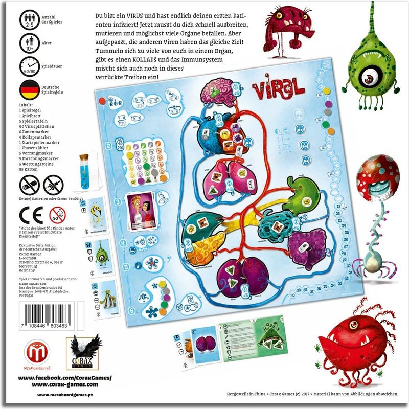 VIRAL back of the box