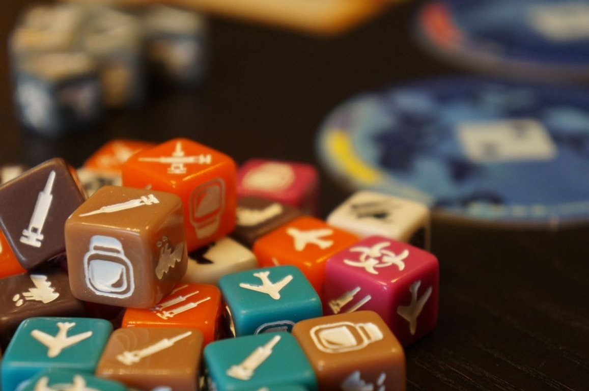 Pandemic: The Cure dice
