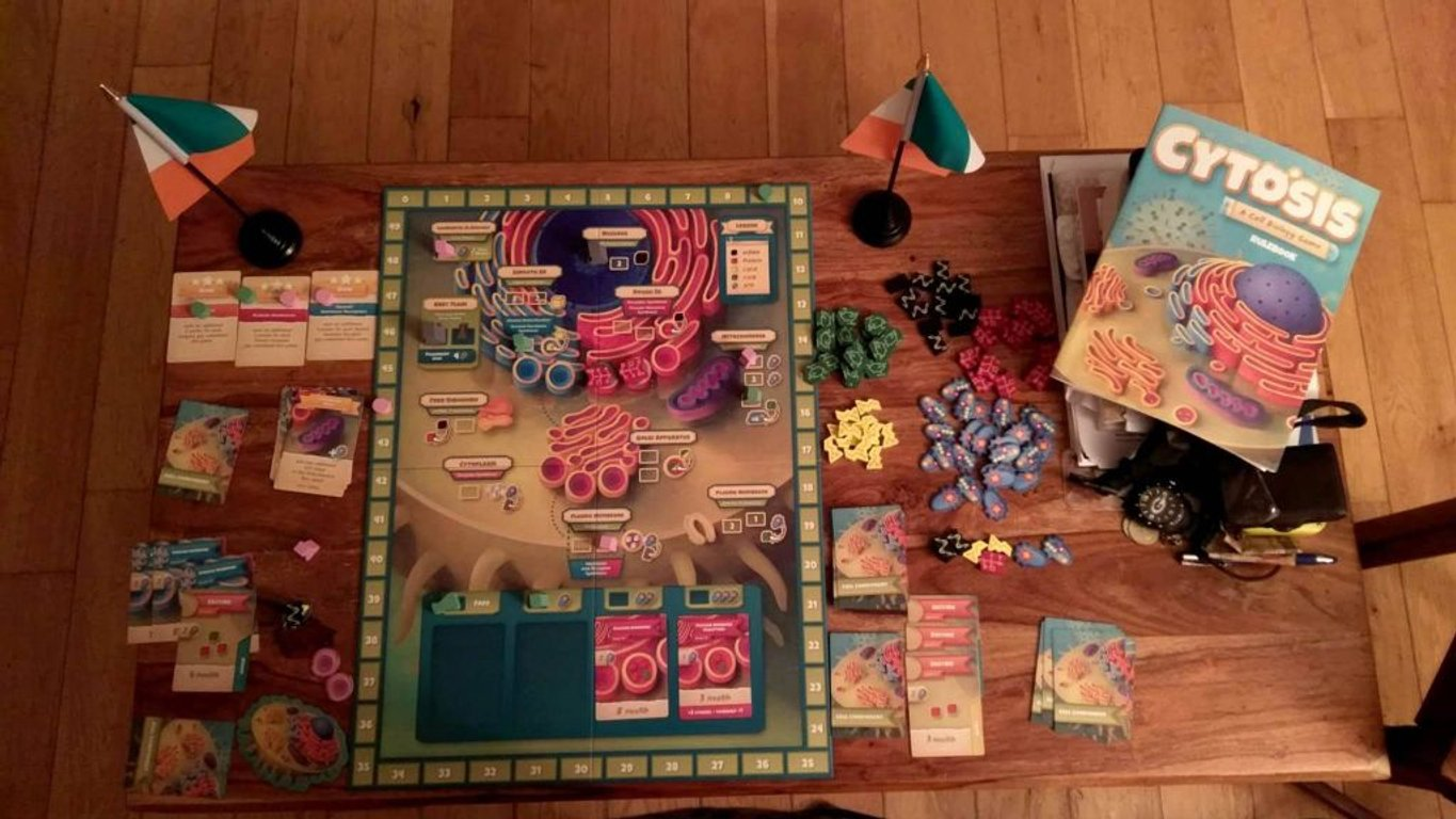 Cytosis: A Cell Building Game components