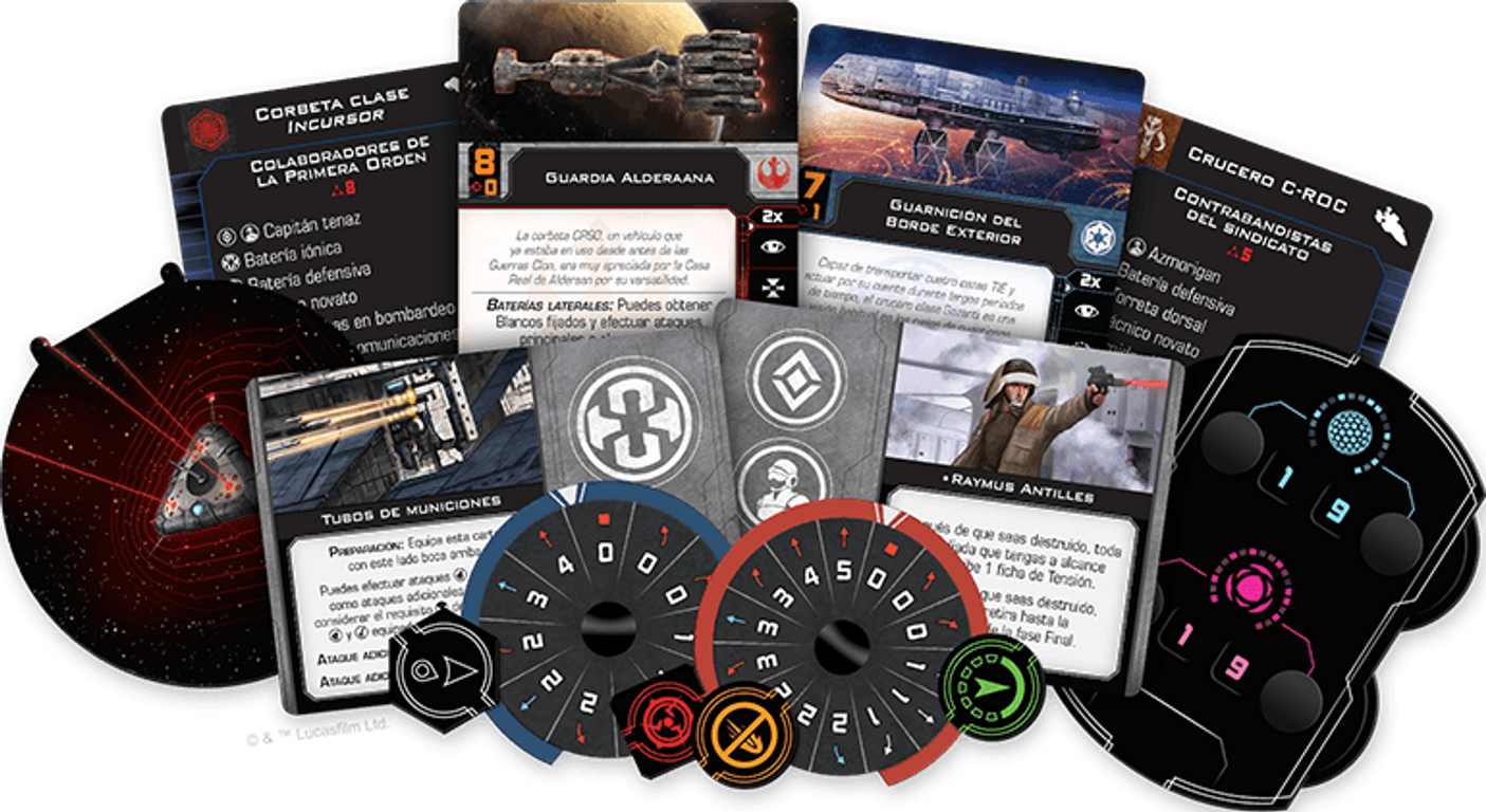 Star Wars: X-Wing (Second Edition) - Epic Battles Multiplayer Expansion components