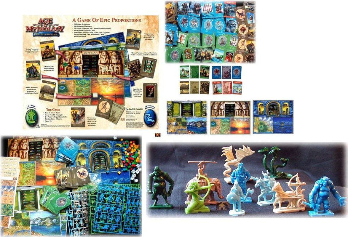Age of Mythology: The Boardgame components