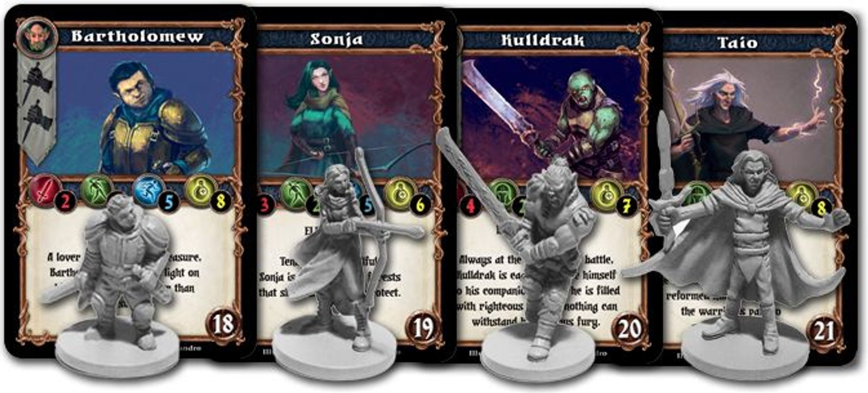 Dungeon Alliance: Champions components