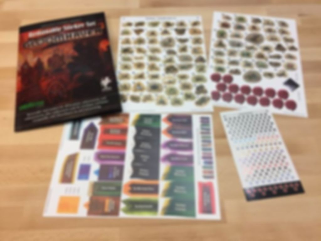 Gloomhaven: Removable Sticker Sheet components