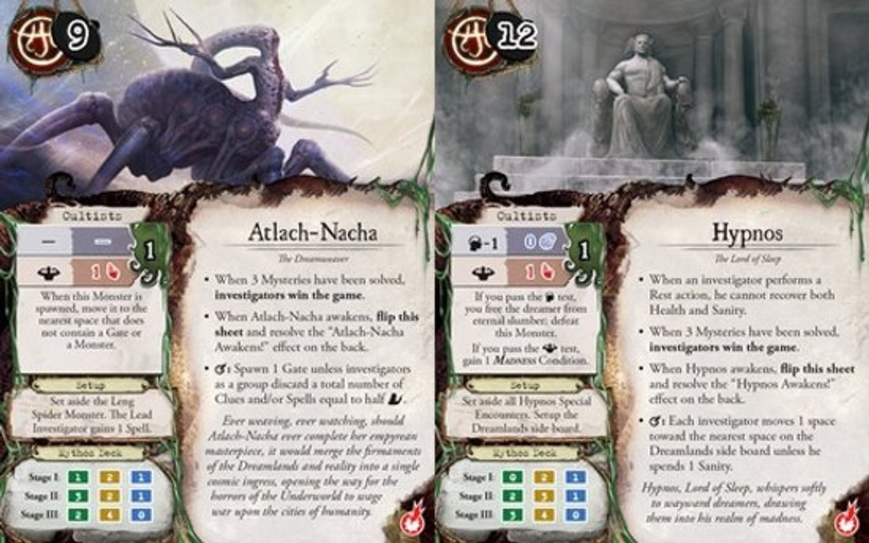 Eldritch Horror: The Dreamlands characters