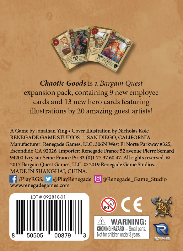 Bargain Quest: Chaotic Goods back of the box