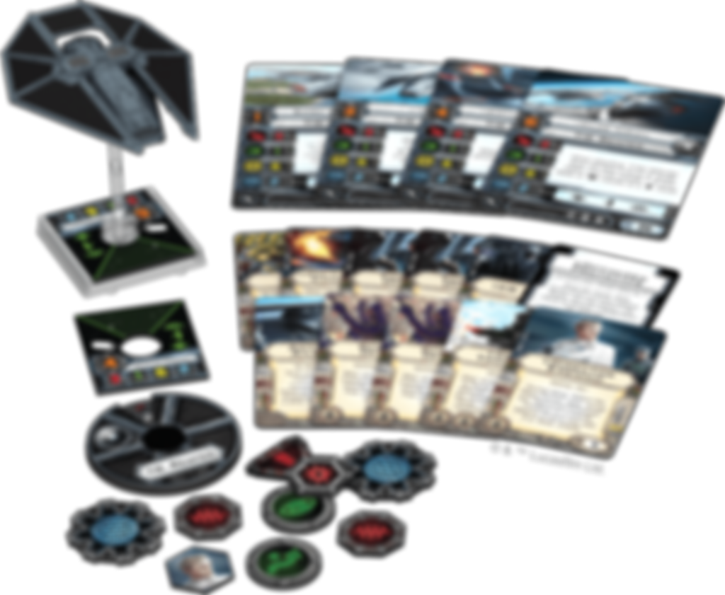 Star Wars: X-Wing Miniatures Game - TIE Reaper Expansion Pack components