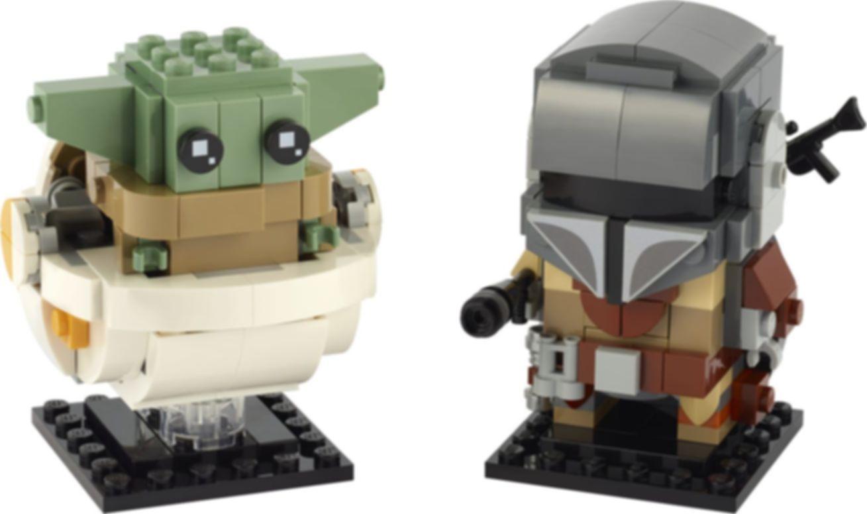 LEGO® BrickHeadz™ The Mandalorian™ & the Child components