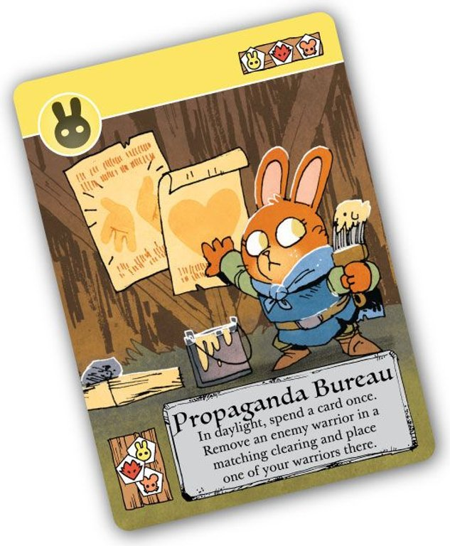 Root: The Exiles and Partisans Deck Propaganda Bureau card