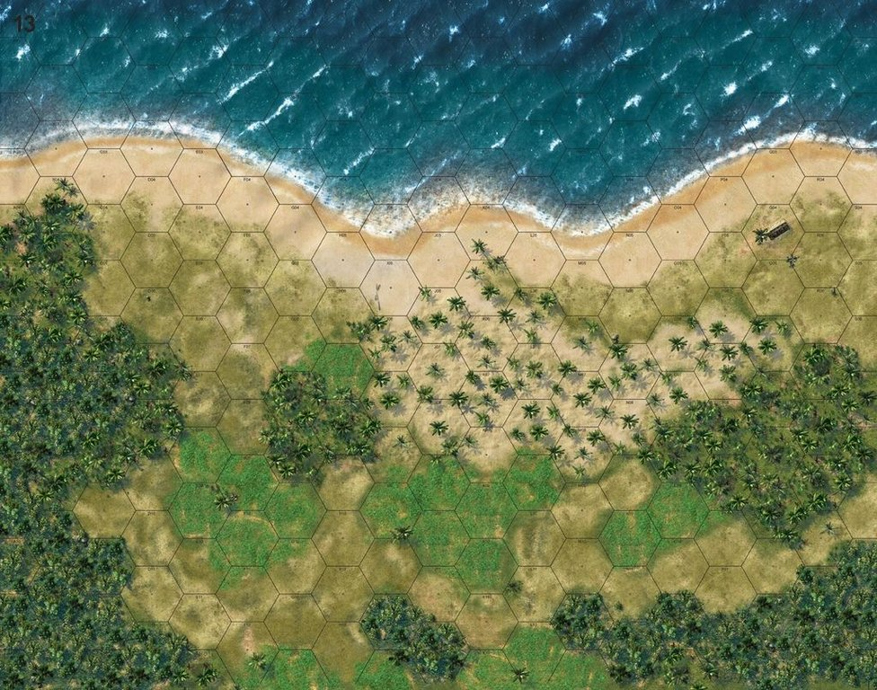 Conflict of Heroes: Guadalcanal game board