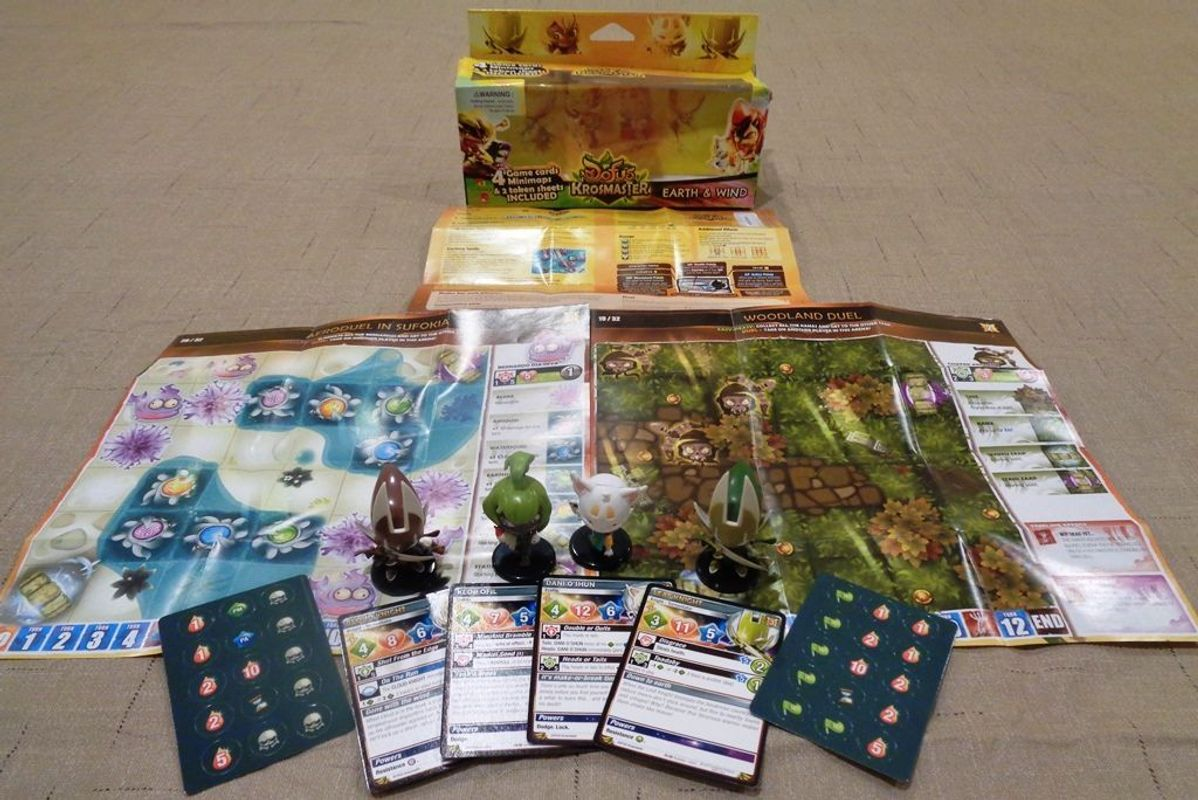 Krosmaster: Arena - Earth and Wind components