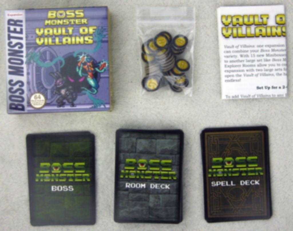 Boss Monster: Vault of Villains components
