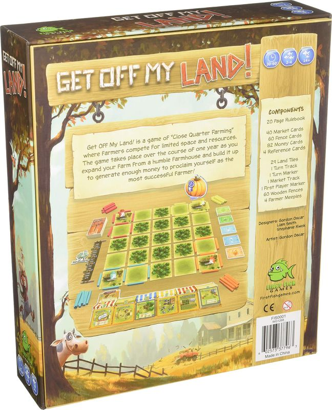 Get Off My Land! back of the box
