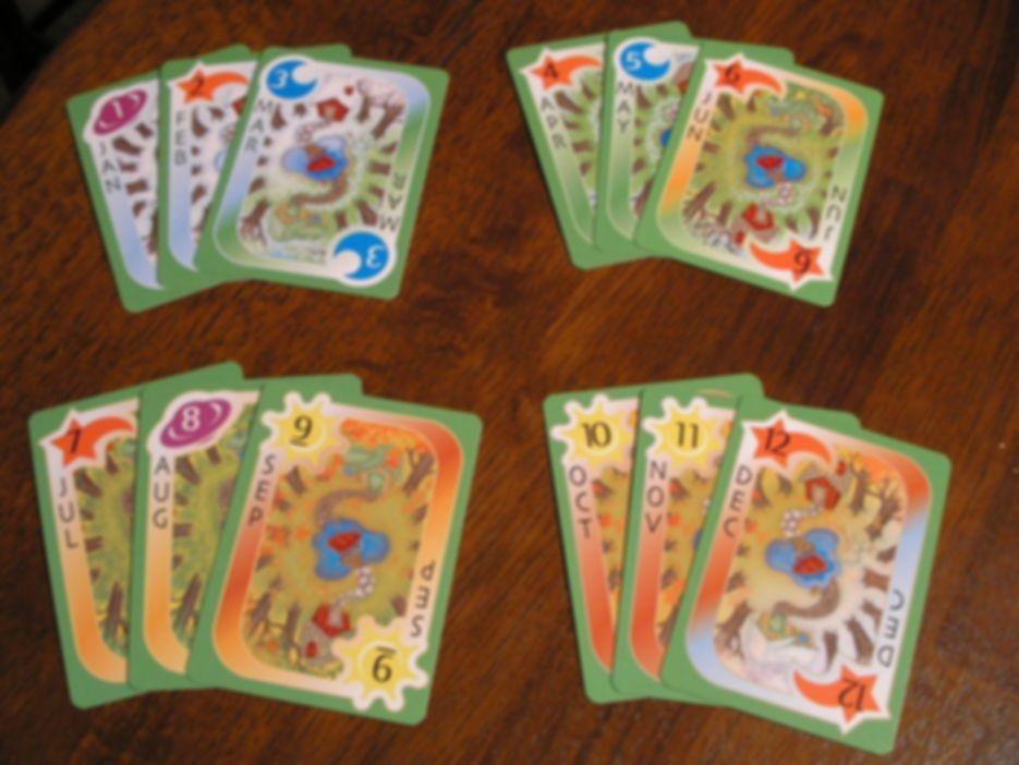 Seasons: The Calendar Rummy Game cards