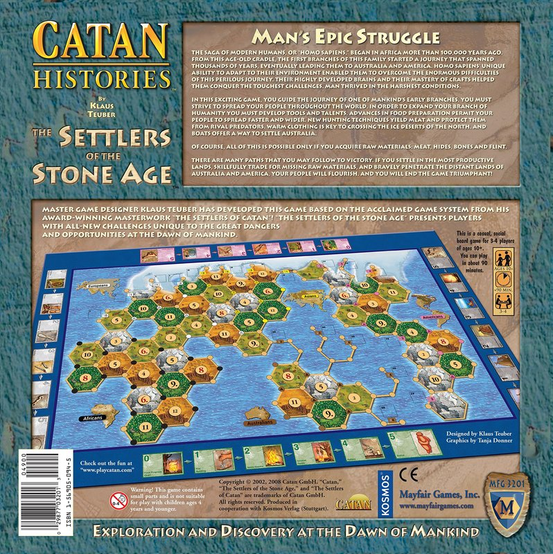 The Settlers of the Stone Age back of the box