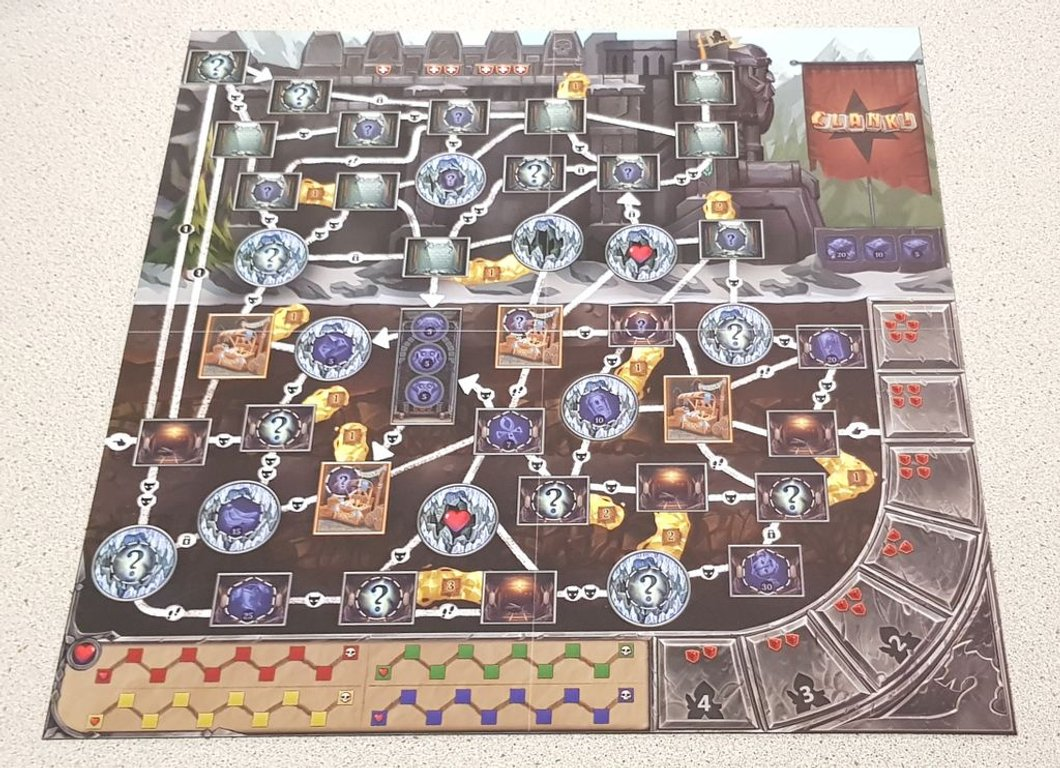 Clank! Expeditions: Gold and Silk game board