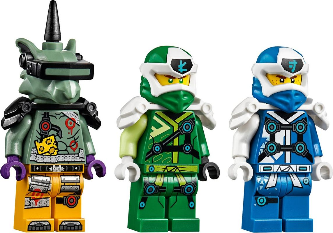 Jay and Lloyd's Velocity Racers minifigures
