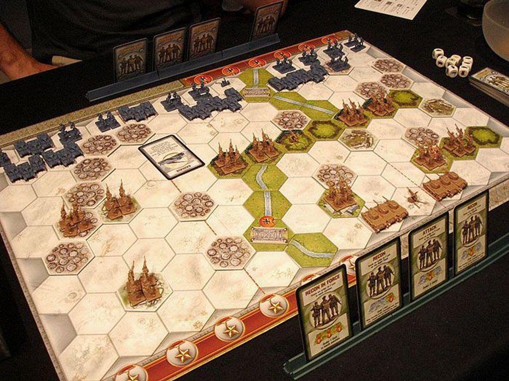 Memoir '44: Winter/Desert Board Map gameplay