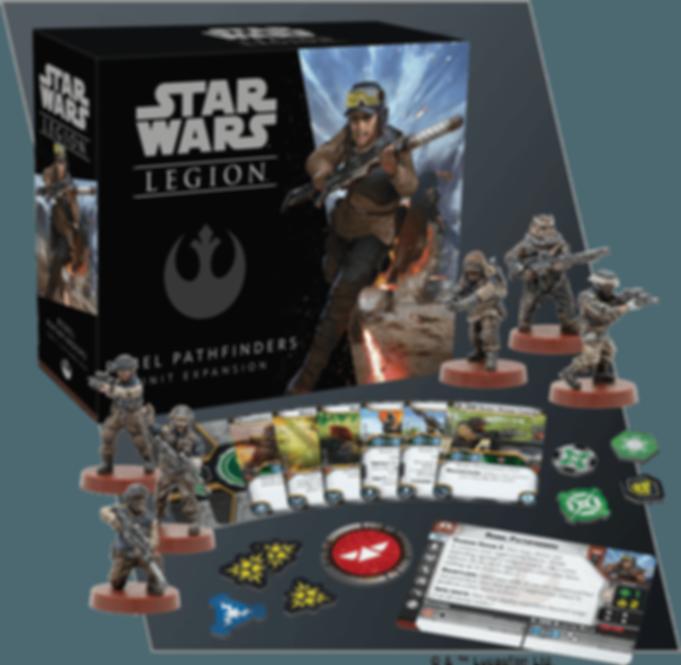 Star Wars: Legion - Rebel Pathfinders Unit Expansion components