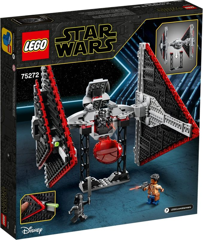 LEGO® Star Wars Sith TIE Fighter™ back of the box