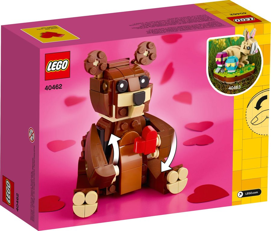 Valentine's Brown Bear back of the box