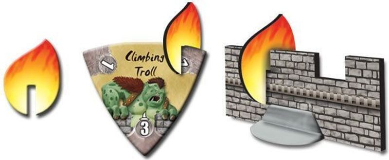 Castle Panic: The Wizard's Tower components
