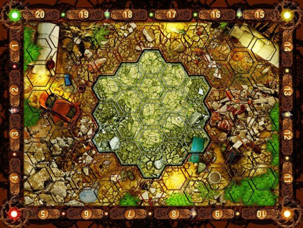 Neuroshima Hex 3.0 game board
