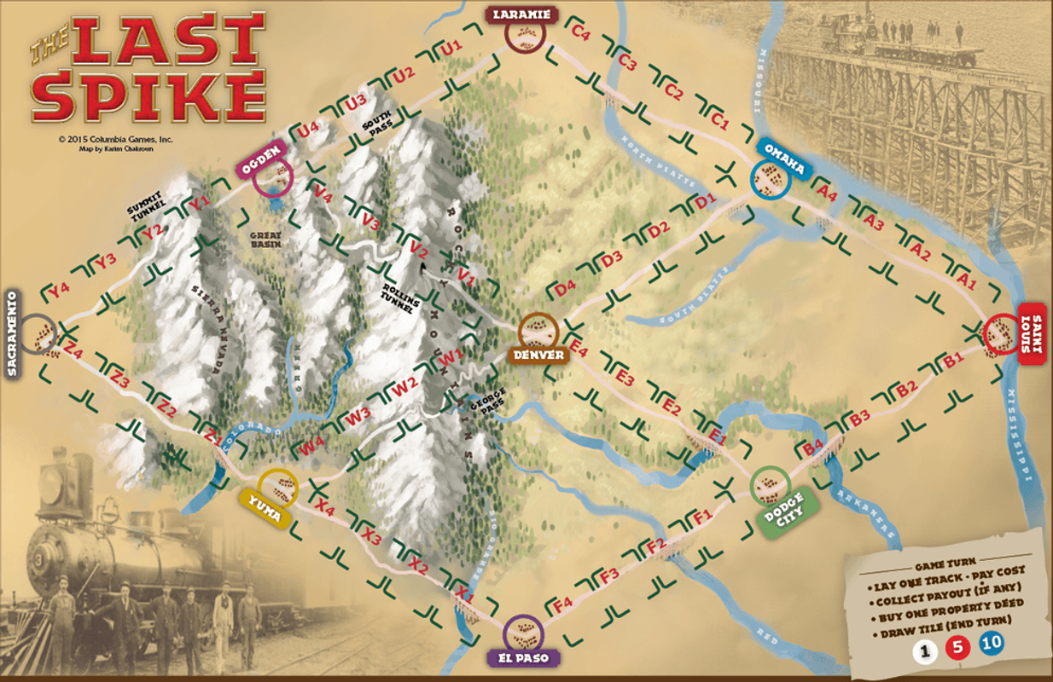 The Last Spike game board