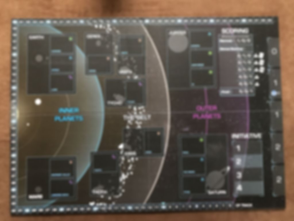The Expanse Board Game game board
