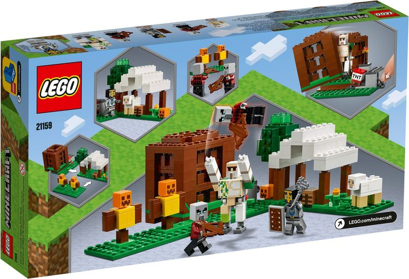 LEGO® Minecraft The Pillager Outpost back of the box